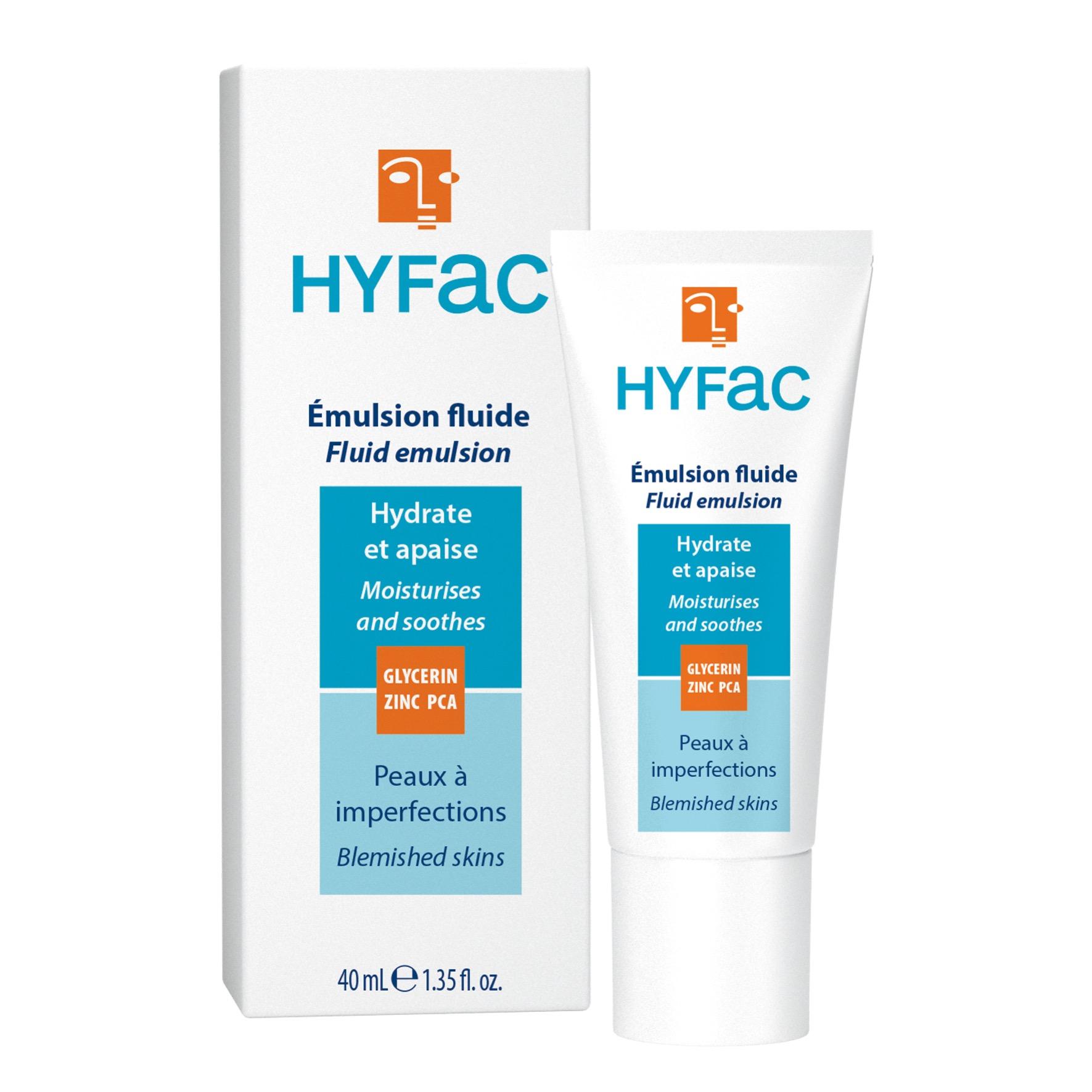 Emulsion fluide HYFAC hydrate et compense dessèchement