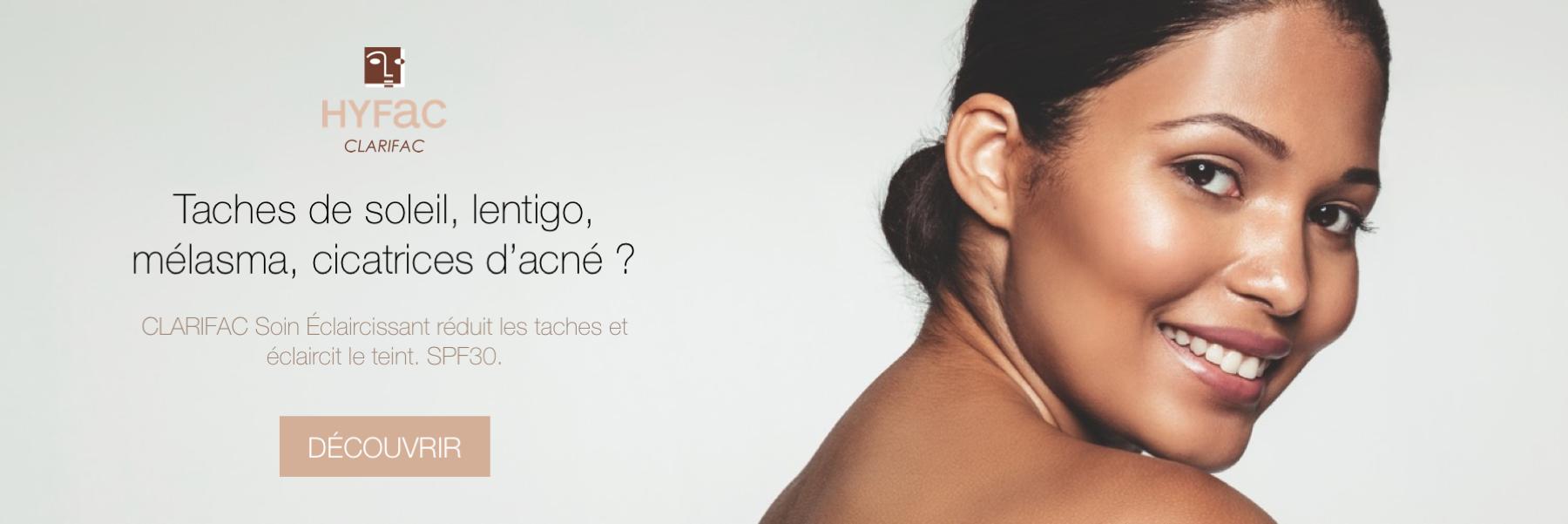 HYFAC CLARIFAC Soin anti-taches peau SPF30